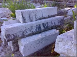 Cordonate in marmo bianco