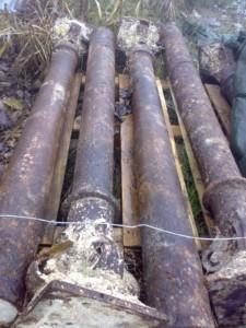 colonne antiche coniche in ghisa 4