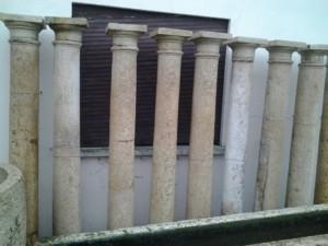 colonne in marmo di verona epoca ottocento