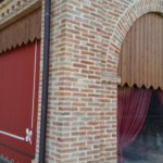 Portico realizzato con i nostri mattoni antichi da recupero materiali 22