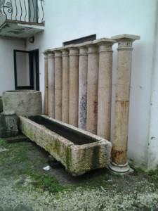 colonne in marmo bianco di verona