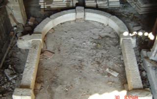 portale Arco in marmo verdello di asiago