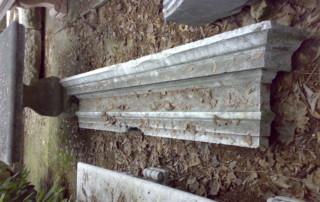 Camino in marmo bianco di verona recupero materiali