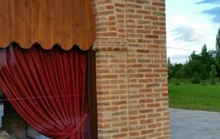 Portico realizzato con i nostri mattoni antichi da recupero materiali 20