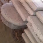 Gradini o pianerottoli o scalini in marmo bianco di verona 3